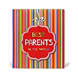 ColourLife Leather Book Covers for Textbooks Hardcovers Best Parents in The World School Books Protector 9 x 11 inches