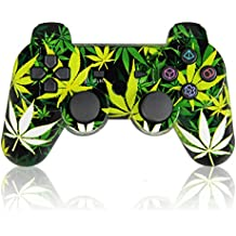 Wireless Double Shock Sixaxis Controller for PS3, Bluetooth Gamepad Remote for Sony PlayStation 3 (Leaf)