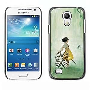 "For Samsung Galaxy S4 Mini (NOT for regular S4) Case , Chica Laberinto Laberinto Arte de hadas del bosque Pintura"" - Diseño Patrón Teléfono Caso Cubierta Case Bumper Duro Protección Case Cover Funda"