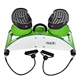 Mini Fitness Exercise Machine Exercise Stepper Mini Step Swivel Elliptical Trainer for Home and Office Workout (White)