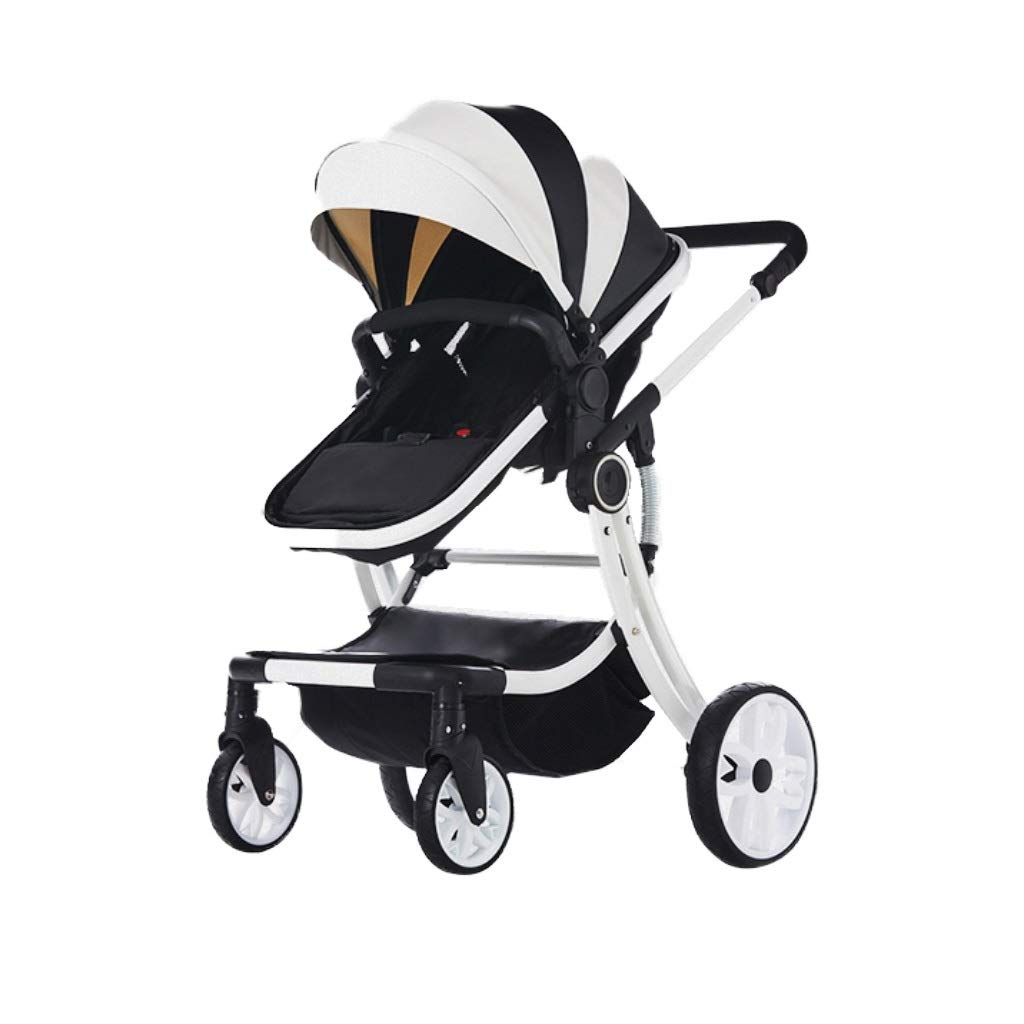 Baby Stroller high Landscape Ultra Light Folding can sit Reclining Winter Summer Two trolleys for Newborn Babies 1-4 Years Old Children