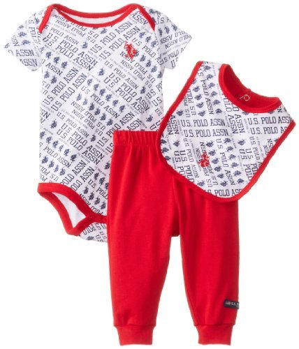 U.S. POLO ASSN. Baby-Boys recién nacido bodysuit con babero ...