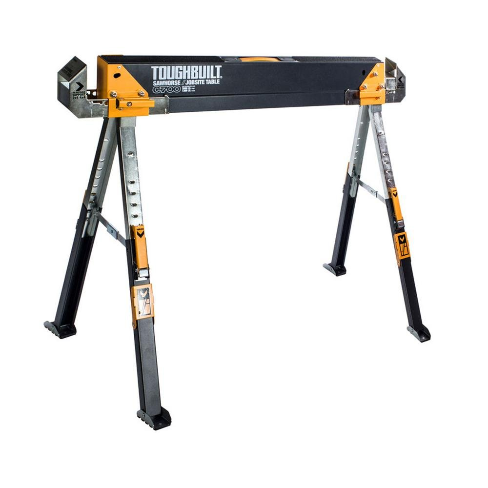 Toughbuilt Sawhorse Adjustable up to 4 x 4 Size Support Arms 1300 LB Capacity by ToughBuilt