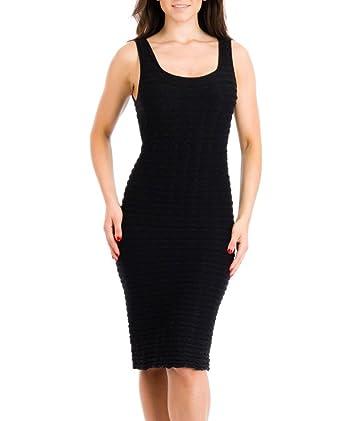 Black Crinkle Dress