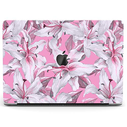 (Wonder Wild Case for MacBook Air 13 inch Pro 15 2019 2018 Retina 12 11 Apple Hard Mac Protective Cover Touch Bar 2017 2016 2015 Plastic Laptop Print Lilies Bouquet)