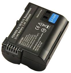 STK EN-EL15 Battery for Nikon D7100, D750, D7000, D7200, D810, D610, D800, D600, D800e, D810a, 1 v1 Cameras (Fully Decoded)
