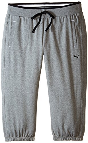 PUMA Women's Sweat Capri, Medium Gray Heather, X-Large