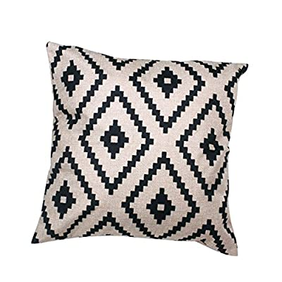 FairyTeller Geometric Argyle Linen Throw Pillow Case Cushion Cover Home Decor Iut6523
