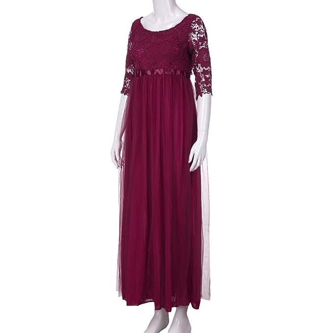 ZHRUI Vestido de Noche sin Espalda de Dama de Honor de Encaje de Gasa de Las Mujeres (Color : Rojo, tamaño : Small): Amazon.es: Hogar