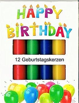 Velas de cumpleaños 12er, colores, 13 x 96 mm: Amazon.es ...