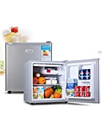 SL&BX Mini fridge refrigerator car dual-use dormitory cabinet stainless steel door refrigerator-A 60L
