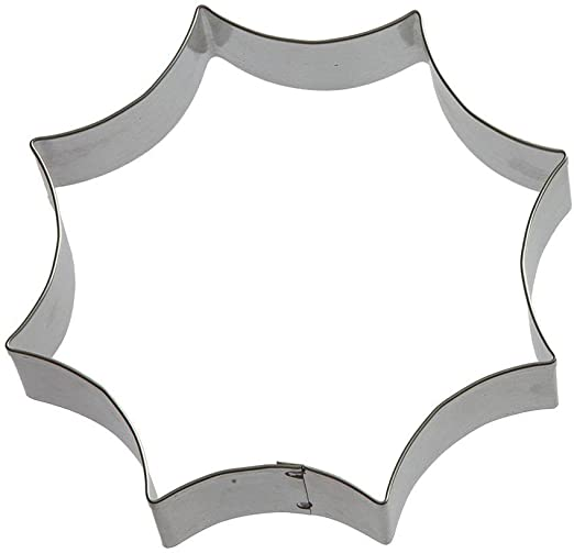 US Tin Plated Steel Spider Web Cookie Cutter 4.25 Inch Ann Clark Halloween