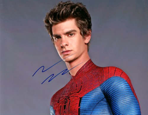 Andrew Garfield Autograph Signed 11x14 Cute Spiderman Photo AFTAL