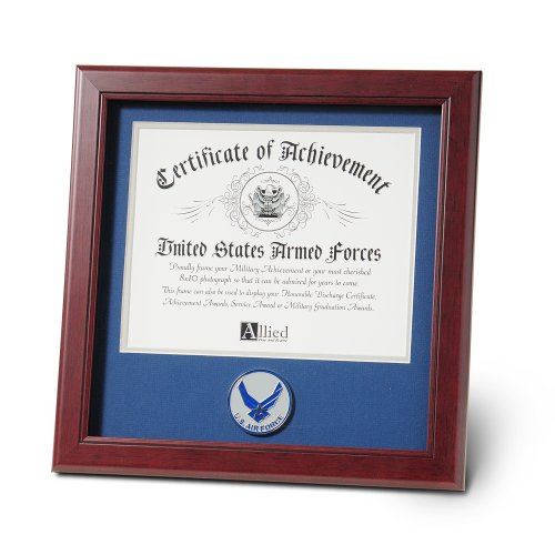 Allied Products Frame Aim High Air Force Medallion Certificate Frame, 8 by (Air Force Photo Frame)
