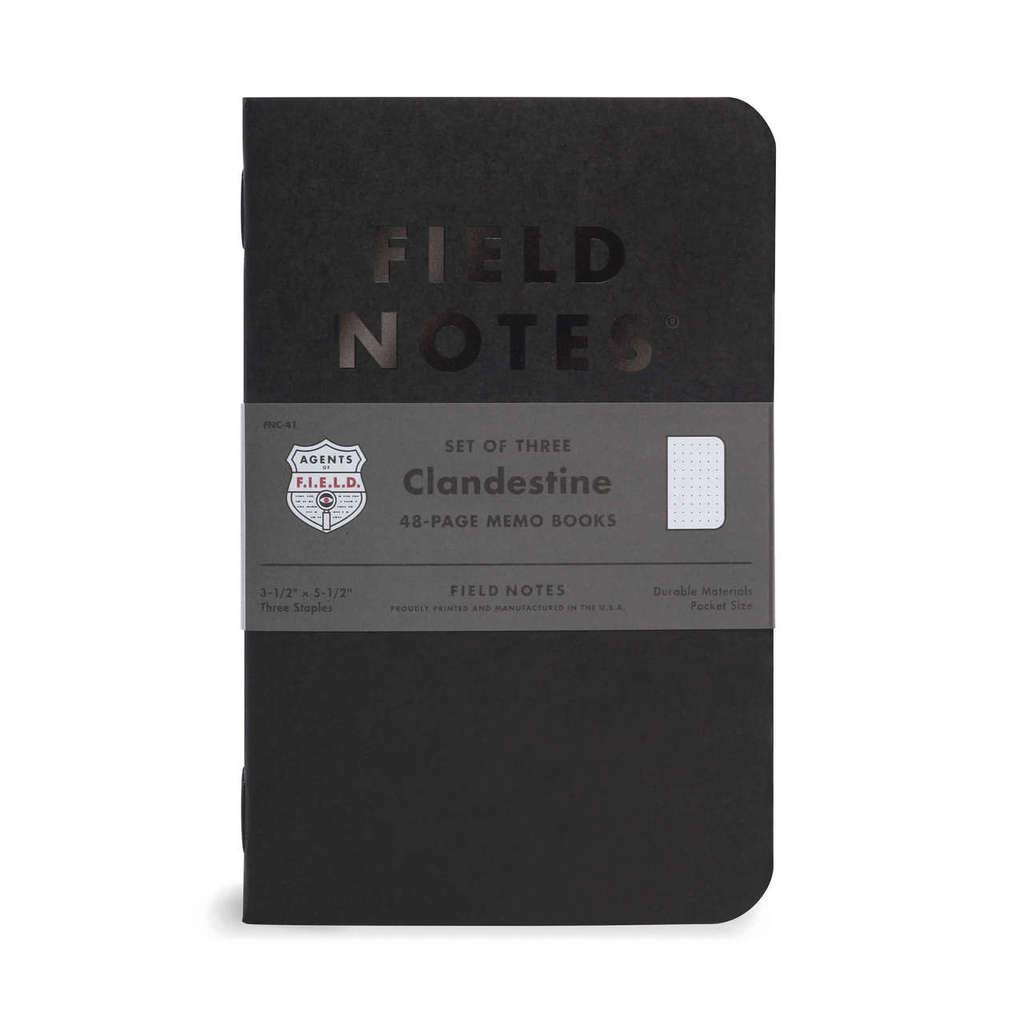 Field Notes: Clandestine - 3 Pack - Dot-Graph Memo Books, 3.5 x 5.5 Inch
