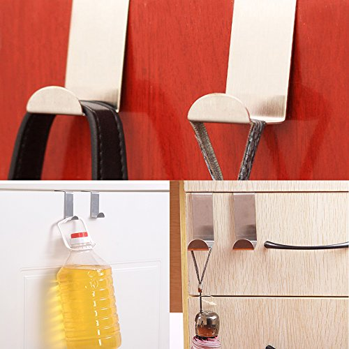 60%OFF Daily Mall Stainless Steel Durable Door Hooks Removable Cubicle Hat Coat Hook with Screw Hole Wardrobe Hangers Hooks For Bath Kitchen (3)