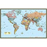 World Map Poster - Laminated by BarCharts