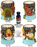 Nose Desserts Tea Party for Alice in Wonderland warmer-burner Diffuser includes 1-bottle ½-oz Brand Fragrance Oil and 1-Tea Light candle