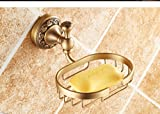 Hyun times All copper antique soap dish soap holder soap net soap dish Continental bathroom hardware pendant thickened Luxury