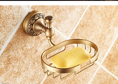 Hyun times All copper antique soap dish soap holder soap net soap dish Continental bathroom hardware pendant thickened Luxury by Hyun times Soap stand