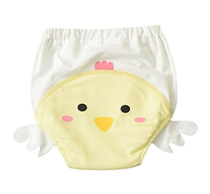 EOZY – 2 Baby Trainer Pantalones Algodón Ropa interior orinal Entrenamiento impermeable amarillo amarillo claro Talla