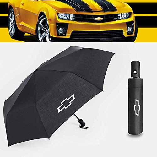JSAMZ Fully automatic shrinkage - black business - wind -proof waterproof -sunshade - umbrella (Fit for chevrolet)