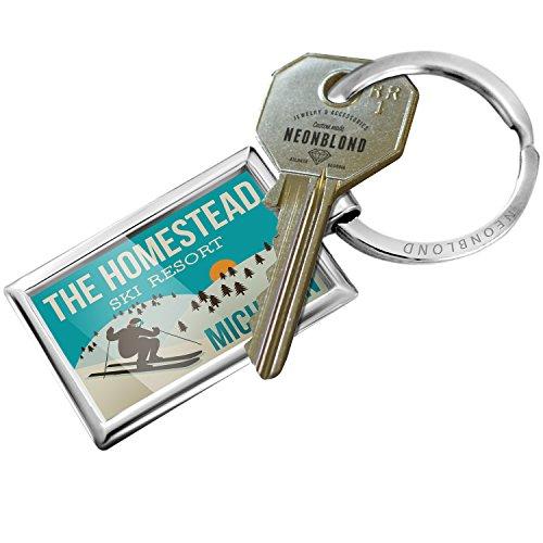 Keychain The Homestead Ski Resort - Michigan Ski Resort - NEONBLOND