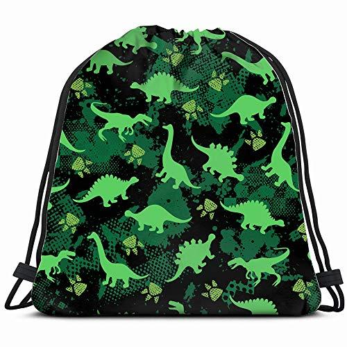 4c4cdd2b8a5e Cute Kids Girls Boys Colorful Abstract Dinosaur Drawstring Backpack Bag  Sackpack Gym Sack Sport Beach Daypack for Girls Men & Women Teen Dance Bag  ...