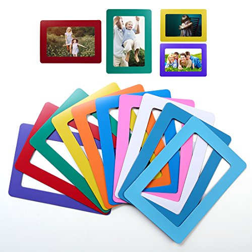 Idyewant Magnetic Picture Frames for Refrigerator, 5x7and 4x6 mixed colorful magnetic picture frames
