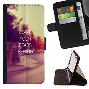 For Samsung ALPHA G850 Quote Vintage Motivational Style PU Leather Case Wallet Flip Stand Flap Closure Cover