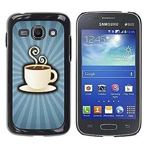 Be Good Phone Accessory // Dura Cáscara cubierta Protectora Caso Carcasa Funda de Protección para Samsung Galaxy Ace 3 GT-S7270 GT-S7275 GT-S7272 // Coffee Power