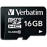 Verbatim Premium microSDHC Memory Card, 44082, With Adapter, 16GB, Class 10, TAA [Non - Retail Packaged]