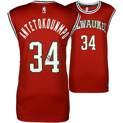 30%OFF Giannis Antetokounmpo Milwaukee Bucks Autographed Red Adidas Replica  Jersey - Fanatics Authentic Certified 5962fd2dd