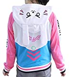 GK-O Overwatch OW DVA Thicken Hoodie Baseball Jacket Cosplay Costume Coats (XXX-Large)