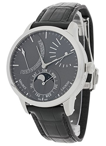 Maurice Lacroix Masterpiece Grey Dial Leather Strap Men's Watch MP6528SS001330 -