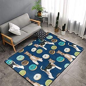 NiYoung Wire Fox Terrier Area Rug, Bedroom Living Room Kitchen Rug, Doormat Floor Mat Standing Mat, Children Play Rug Carpet Bathroom Rug Mat, Throw Rugs Carpet Yoga Mat 1