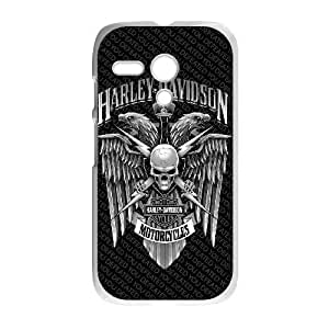 Protection Cover Motorola Moto G White Phone Case Qazht Harley Davidson Personalized Durable Cases