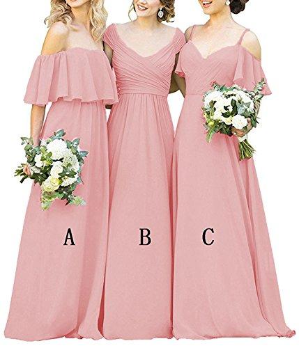 dusty rose color wedding dress - 3
