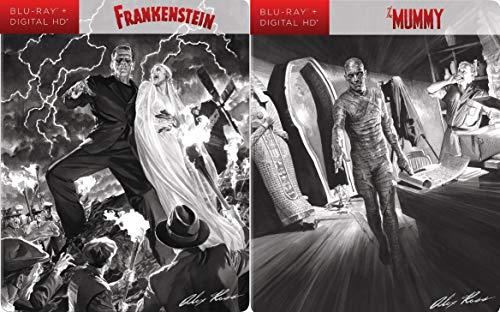 Alex Ross Universal Classic Monsters 2-Blu-ray Steelbook Bundle - Frankenstein & The Mummy]()