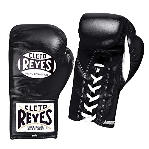 (Cleto Reyes Safetec Professional Fight Gloves, Black, 8-Ounce)