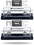 InstallGear 0/2/4 Gauge Ga ANL Fuse Holder + 150 Amp ANL Fuses (2 Pack)