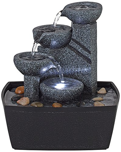 Rowell Four Bowl Lighted Tabletop Fountain