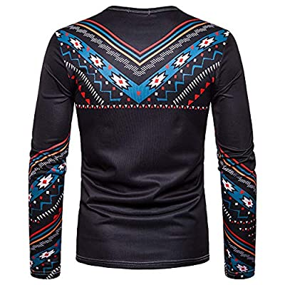 HDGTSA Mens Henleys Shirts Casual African Tribal Long Sleeve Pullover Top Blouse at  Men's Clothing store