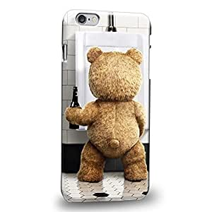 Case88 Premium Designs 2015 Ted Teddy Bear 0929 Protective Snap-on Hard Back Case Cover for Apple iPhone 6 Plus 5.5