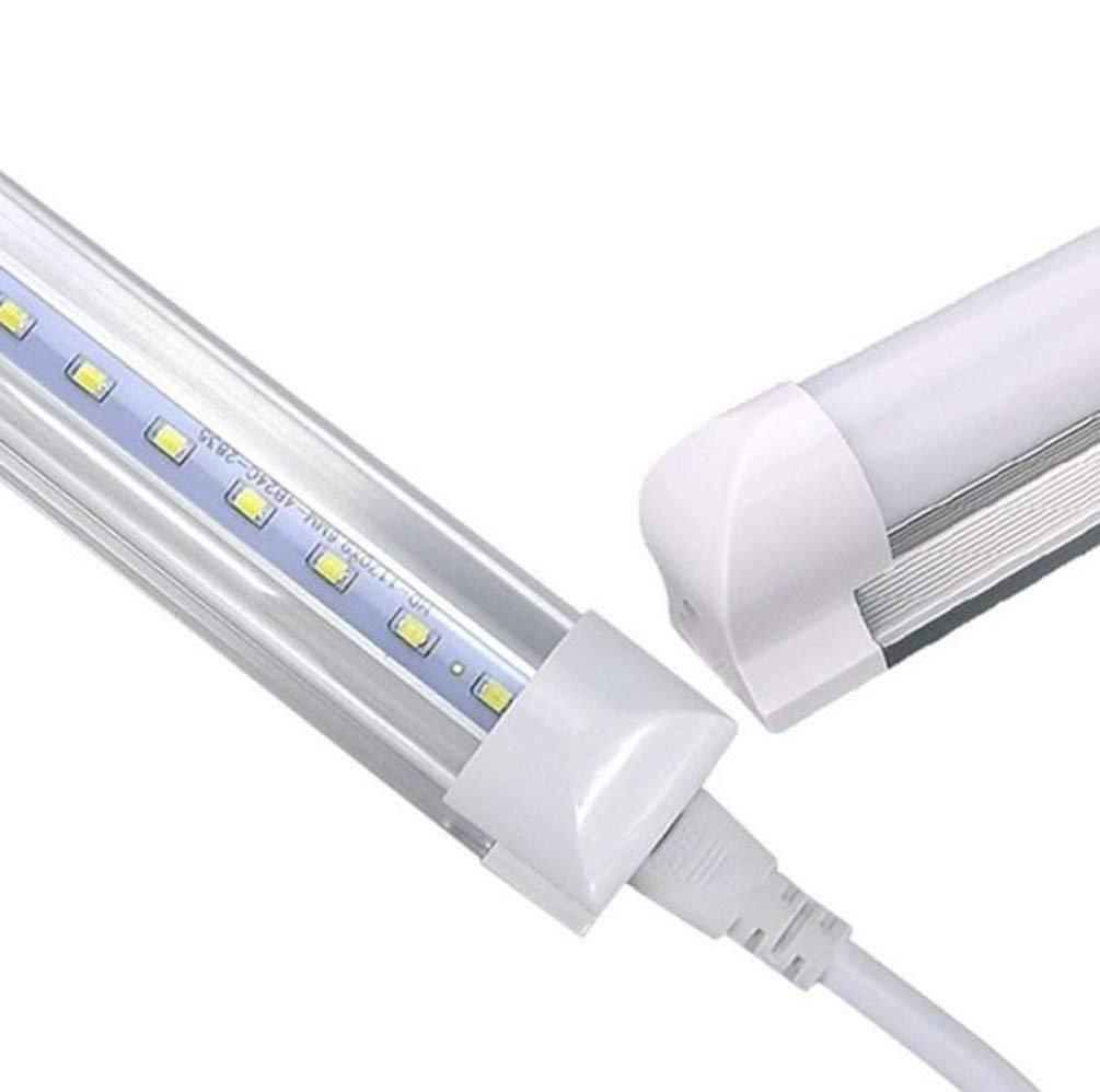 t8 LEDチューブ4フィート、48インチの、6000 K色温度18 W、96pc LED、、2000ルーメン、50 , 000時間。LEDチューブ、透明カバー、両面接続5年保証透明カバー B076Q612WD