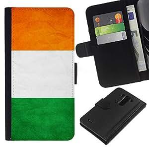 All Phone Most Case / Oferta Especial Cáscara Funda de cuero Monedero Cubierta de proteccion Caso / Wallet Case for LG G3 // National Flag Nation Country Ivory Coast