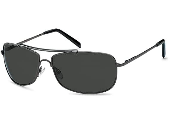Sonnenbrille rechteckig Herren Gangster Sonne Sonnen Brille graue Gläser Federscharnier Strand Urlaub (deep) NGcMD8Sq9