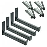 Wheel Hangers Set - Wall Mount Tire Rack Alternative - Space Saving Wheel Storage for Garage Shed, 4 Pack