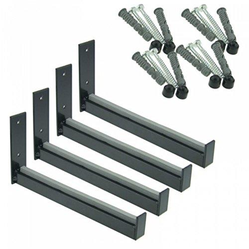 Wheel Hangers Set - Wall Mount Tire Rack Alternative - Space Saving Wheel Storage for Garage Shed, 4 Pack