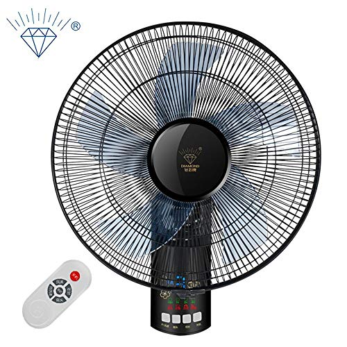 DYR Intelligent Electric Wall Mount Fan 3 Remote Control Sets Adjustable Hanging Fan Industrial Fan 55W